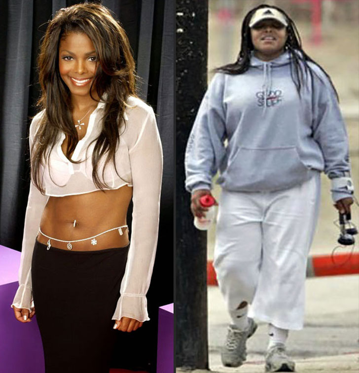 20 celebrity weight loss transformations - the contrast is striking