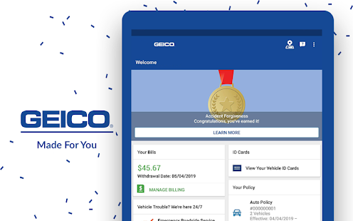 Geico Accident Forgiveness >> Geico Mobile Car Insurance 4 33 0 For Android Free Apk